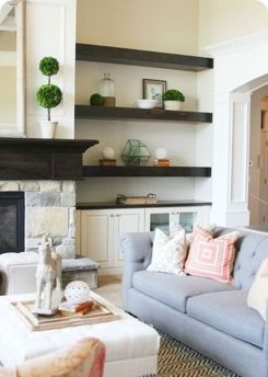 50 ++ Amazing Living Room Designs With Floating Shelves 116