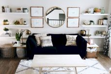 50 ++ Amazing Living Room Designs With Floating Shelves 146