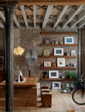 50 ++ Amazing Living Room Designs With Floating Shelves 31
