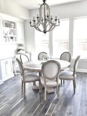 Round Dining Room Tables Decoration Ideas 29