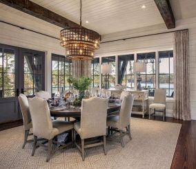 Round Dining Room Tables Decoration Ideas 36