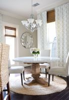 Round Dining Room Tables Decoration Ideas 37