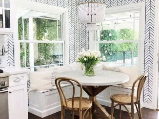 Round Dining Room Tables Decoration Ideas 186