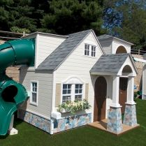 Great Playhouse Plan Into Your Existing Backyard Space