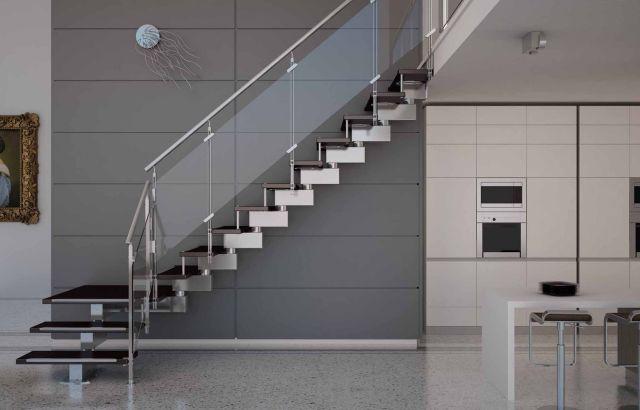 Minimalist Staircase Glass Design Ideas 3