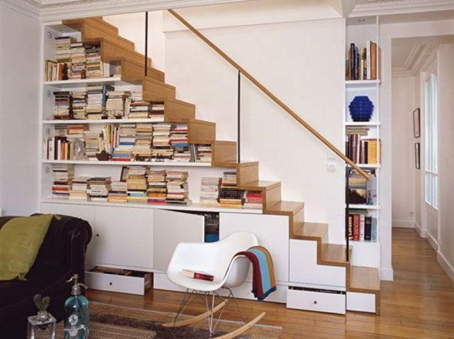 Stair Design Ideas and Minimalist Home Storage Places 4