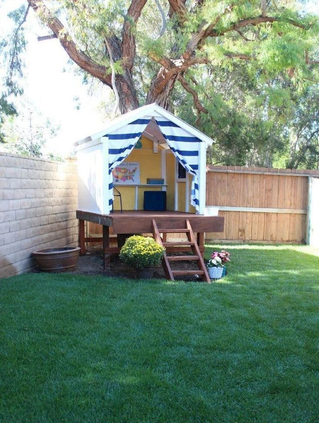 Wonderful Playhouse Plan Into Your Existing Backyard Space