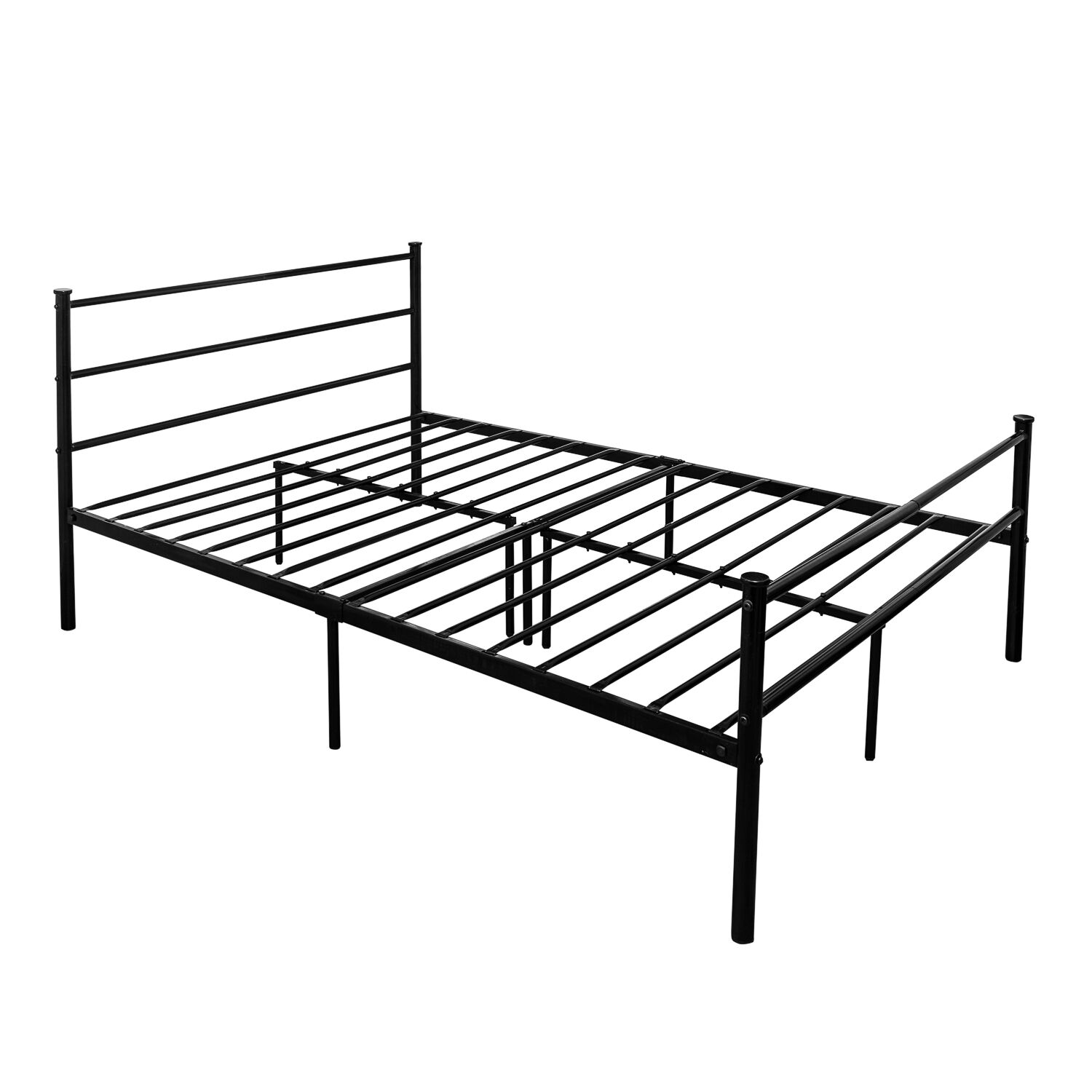 Single Metal Sofa Bed Frame In Black With Side Rail