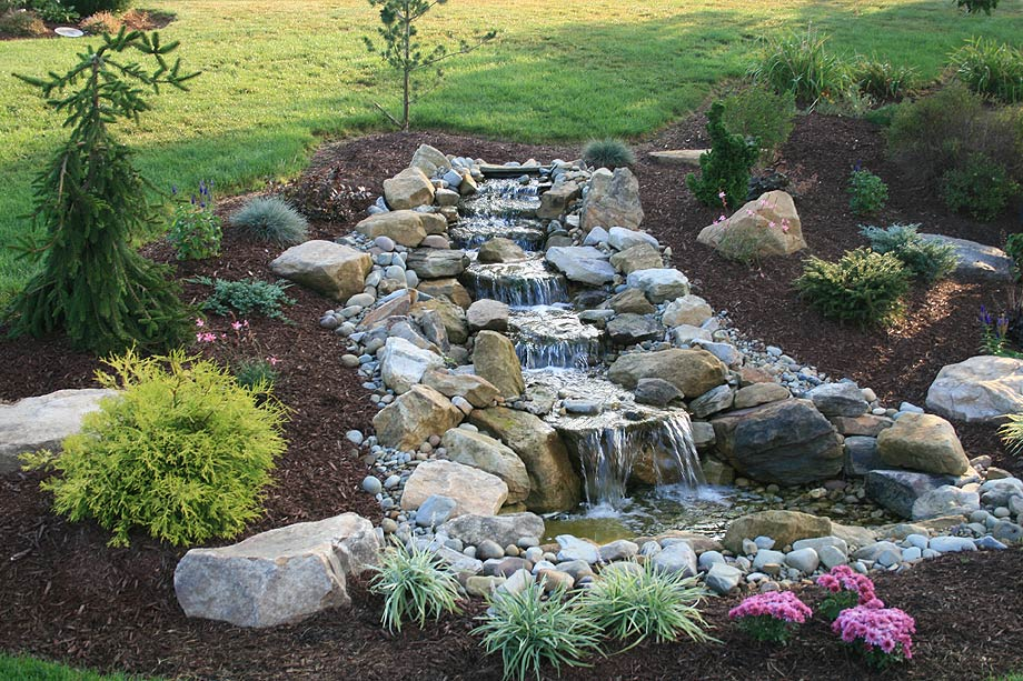 Ponds and Waterfalls - Home Turf Yard and Home Maintenance on Small Backyard Pond  id=71686