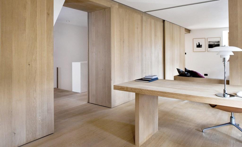 wood flooring work space