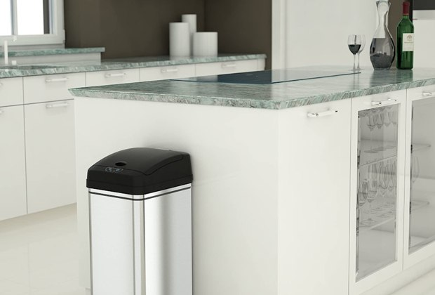 Stainless Steel Automatic Trash Can 3