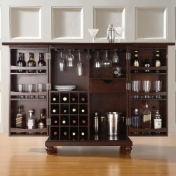 creative-diy-home-bar-ideas-with-wine-cellar-inside-the-cabinet-and-mini-bar-design-made-from-woods