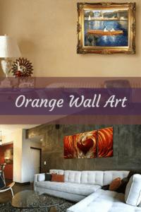 Playful Orange Abstract Wall Art U2013 Orange Wall Decor