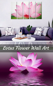 Lotus flower wall art is the perfect way to create a relaxing refuge in your own home. In fact the lotus flower has always been a symbol of purity and beauty especially in Buddhism and Hinduism.