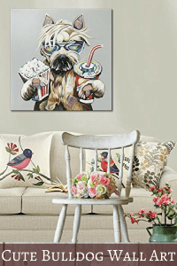 Pretty Bulldog Wall Art