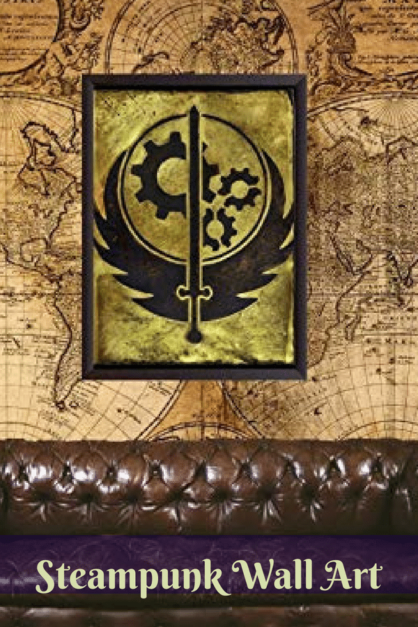 Steampunk Wall Art  Rustic Steampunk Wall Decor