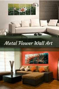 Metal flower home wall art decor - metal floral wall art
