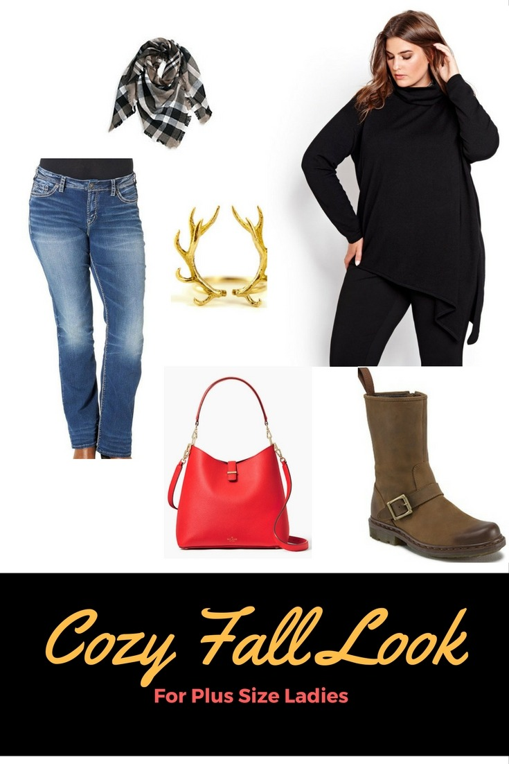 cozy fall look for plus size ladies