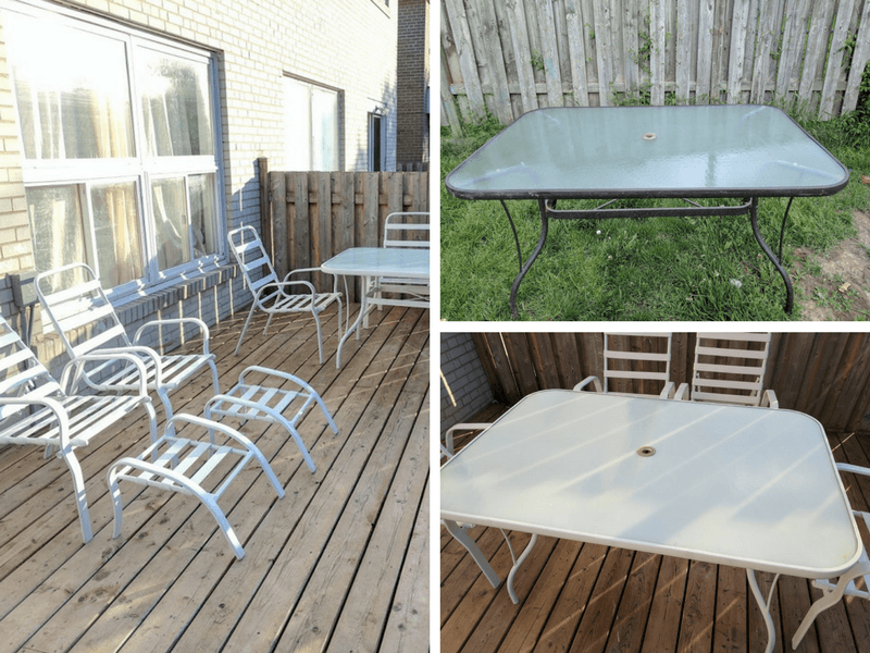 Old patio set update