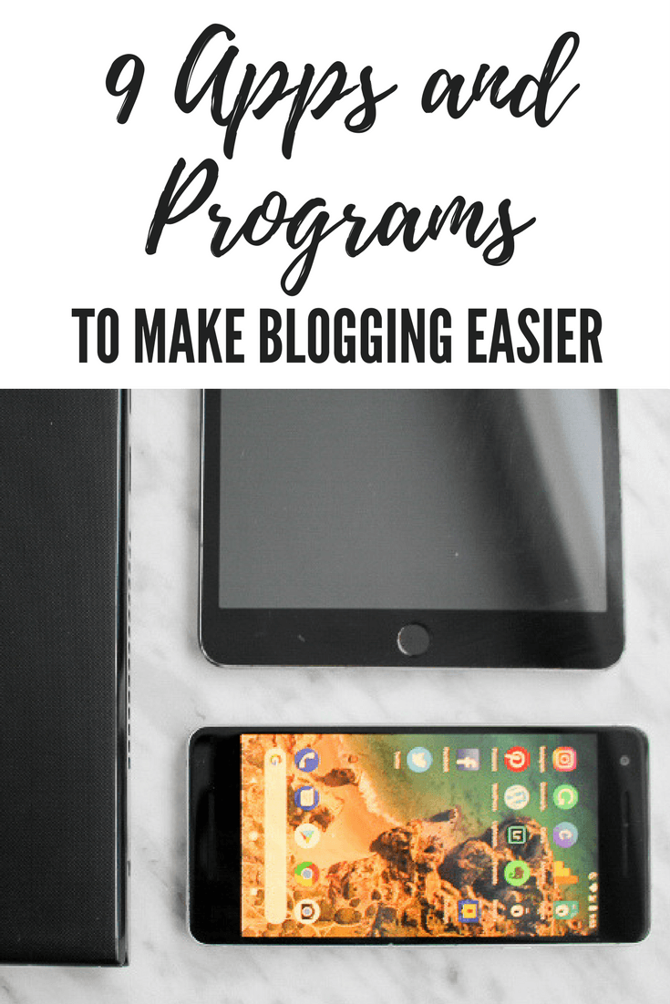 apps and programs to make blogging easier