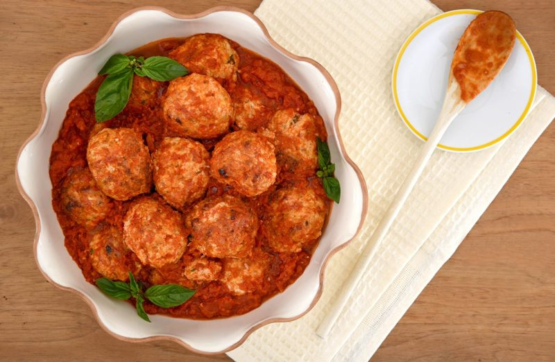 One-Pot Saucy Turkey Meatballs