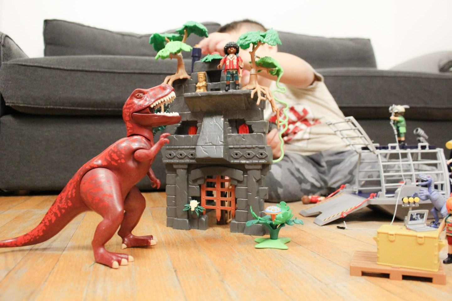 Playmobil Dinos: Enemy Airboat and Hidden Temple