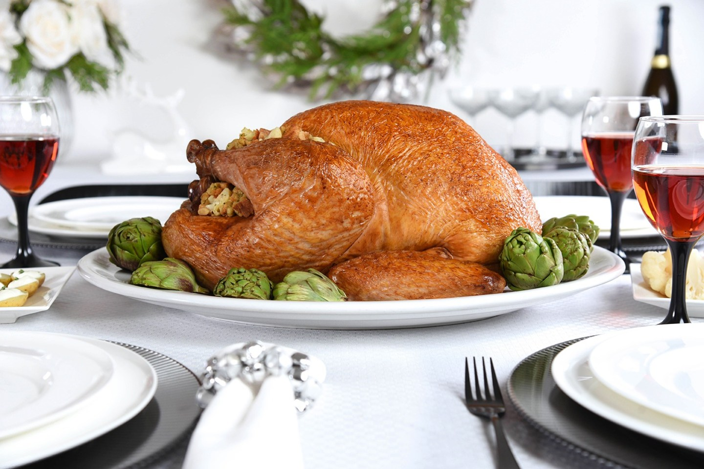 Entertain with Canadian Turkey and Roast Turkey with Artichoke and Asiago Dressing #TurkeyTraditions
