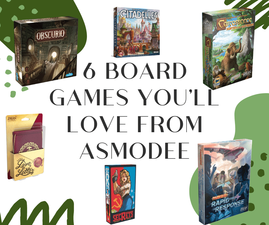 6 Board Games You'll Love from Asmodee + a Giveaway