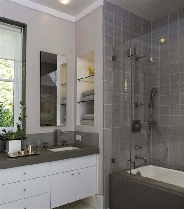 15 Modern and Small Bathroom Design Ideas | Home with Design on Modern Small Bathroom  id=27075