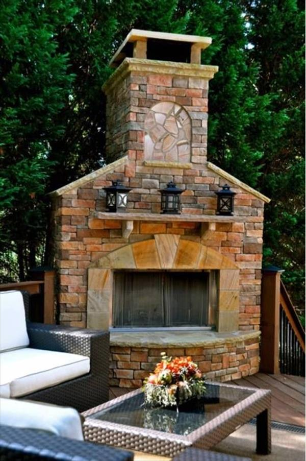6 Beautiful Outdoor Fireplaces | Home with Design on Outdoor Fireplaces Ideas  id=54647