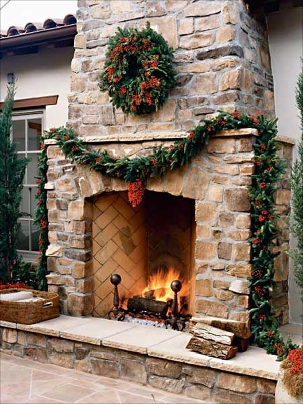 6 Beautiful Outdoor Fireplaces | Home with Design on Outdoor Fireplaces Ideas  id=12115