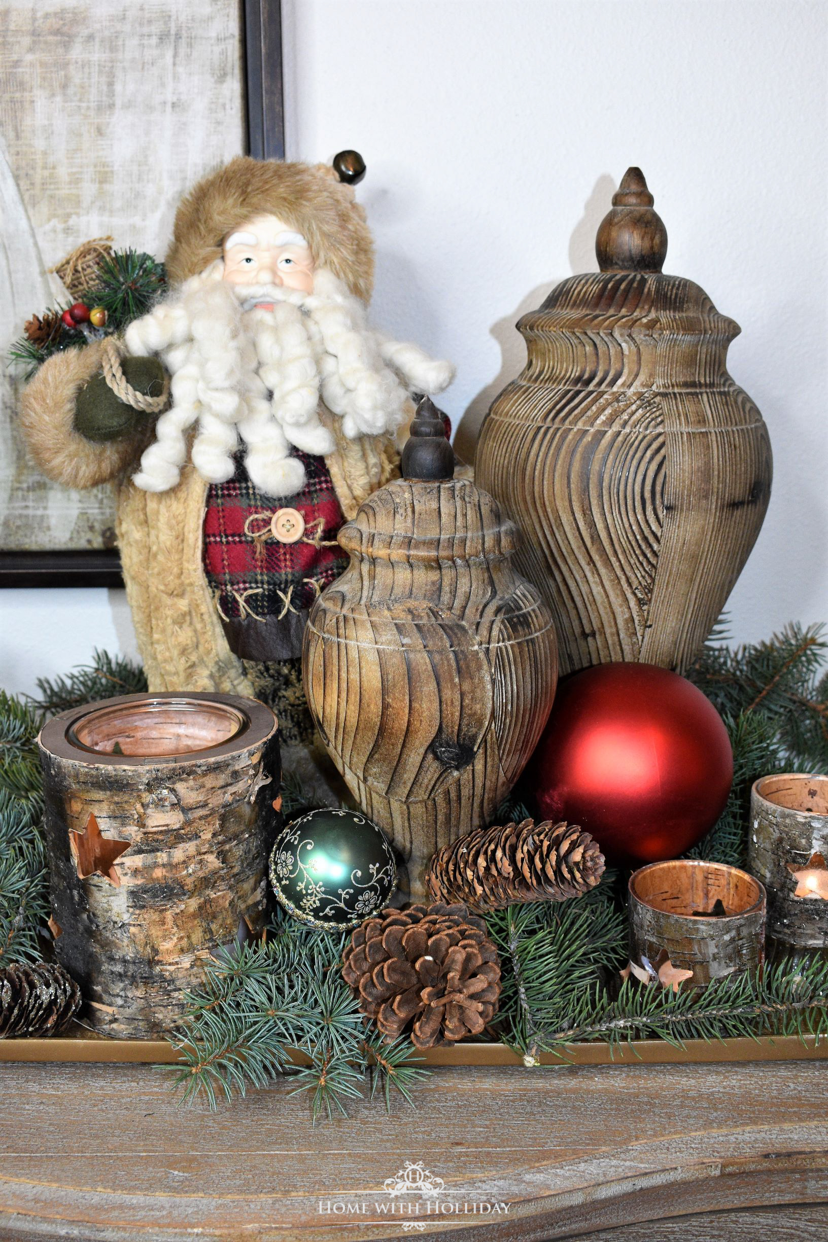 Christmas Decorating Ideas - Use Natural Elements - Home with Holliday