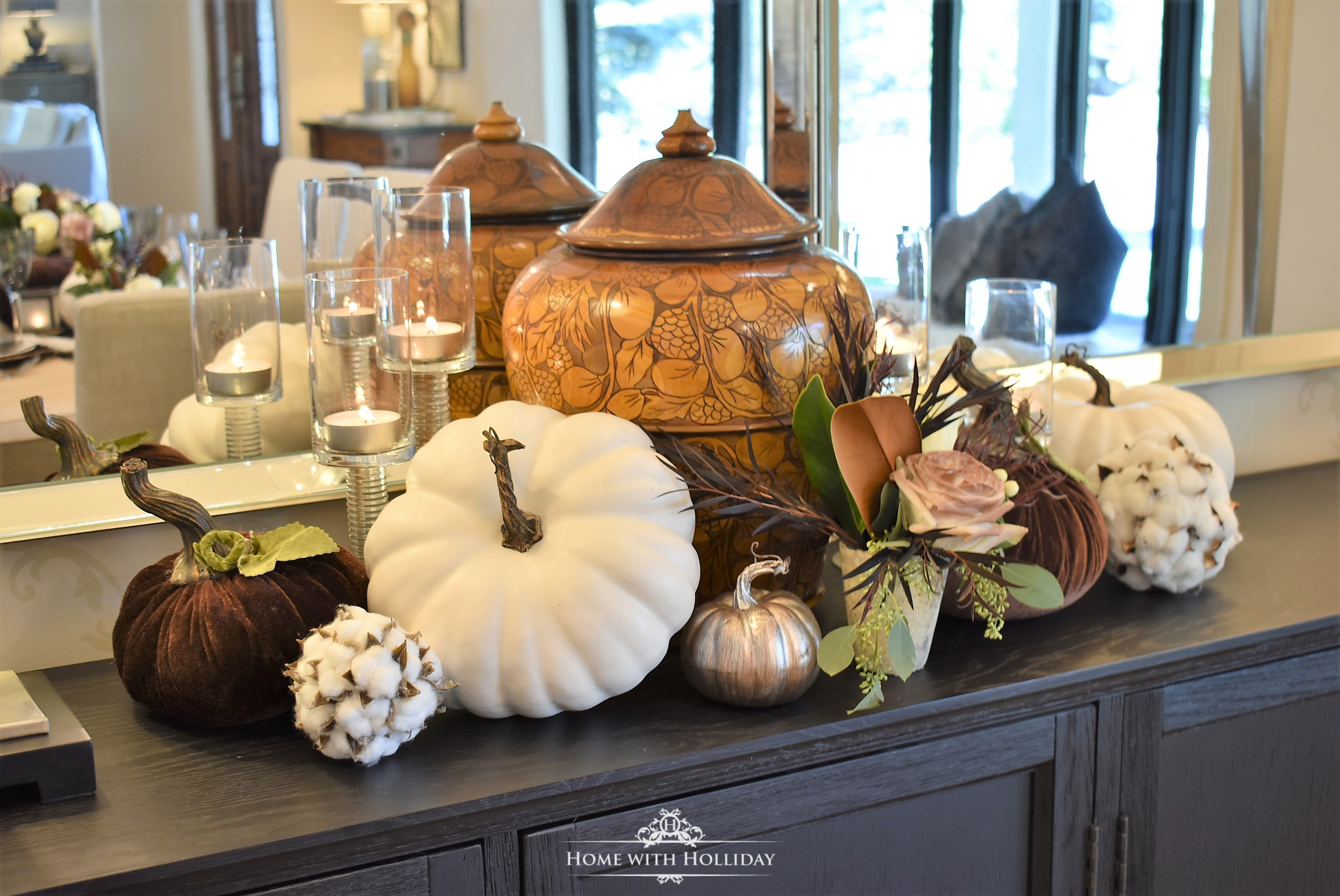 Fall Home Tour with Warm Neutral Tones - Dining Room - Home with Holliday