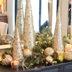Silver And Gold Glam Christmas Centerpiece Home With Holliday