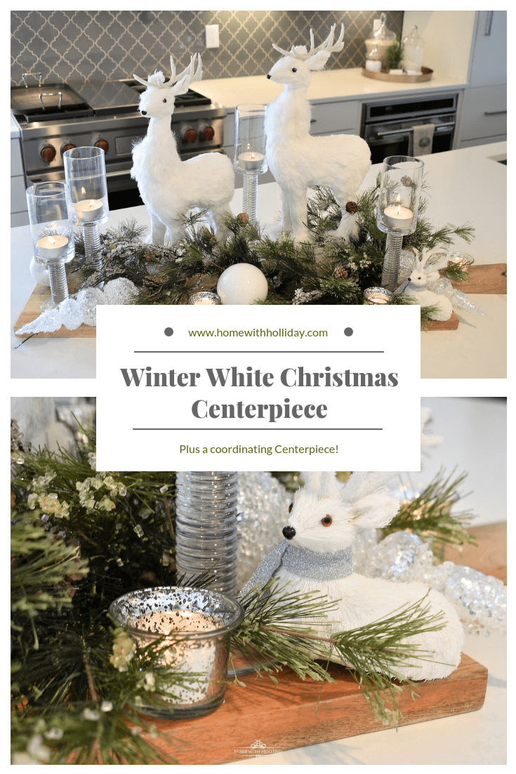 Winter White Christmas Centerpiece - Home with Holliday