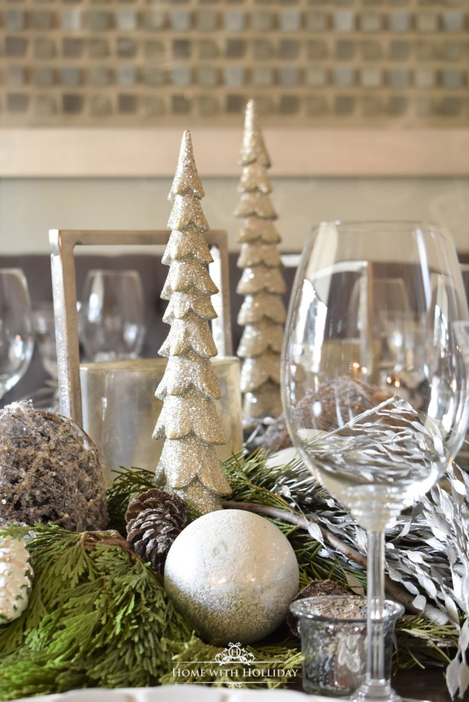 Winter White Snowflake Christmas Table Setting - Home with Holliday