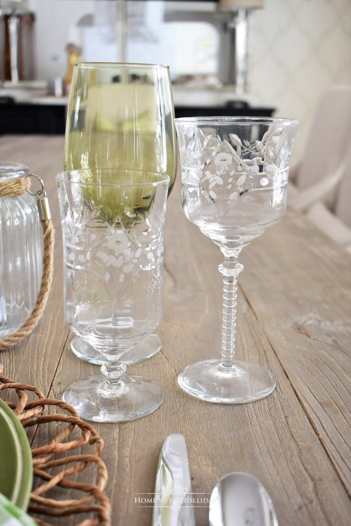 Simple Green Table Setting Ideas - Home with Holliday