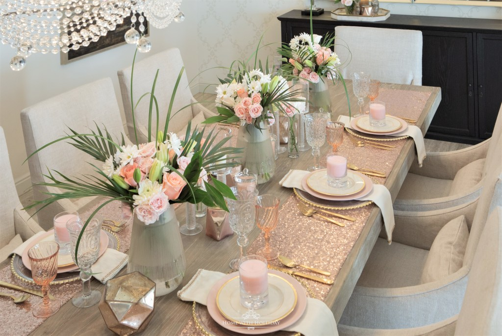 Flowers for my Blush Pink and Gold Table Setting - Home with Holliday