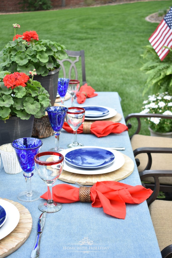 Simple Patriotic Table Décor - Home with Holliday