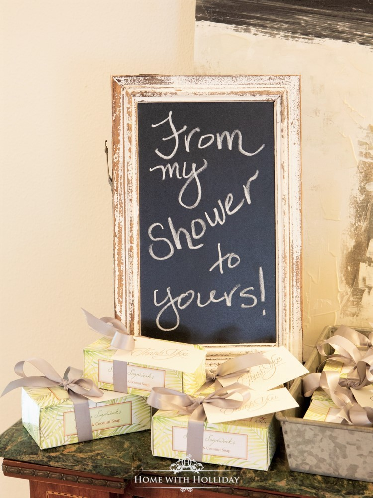 Modern Rustic Bridal Shower Party Favors - Home with Holliday