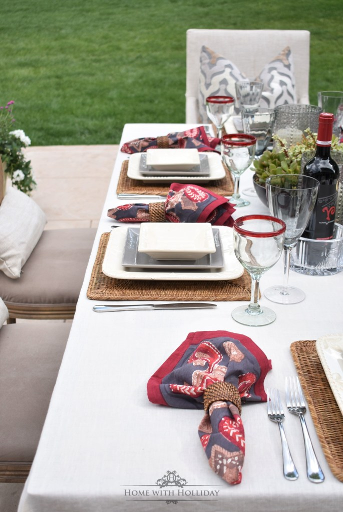 Easy Alfresco Wine Dinner Party - Home with Holliday