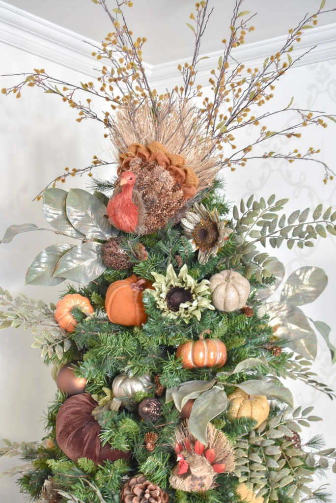 Festive Autumn Thanksgiving Tree with Pumpkins - Home with Holliday