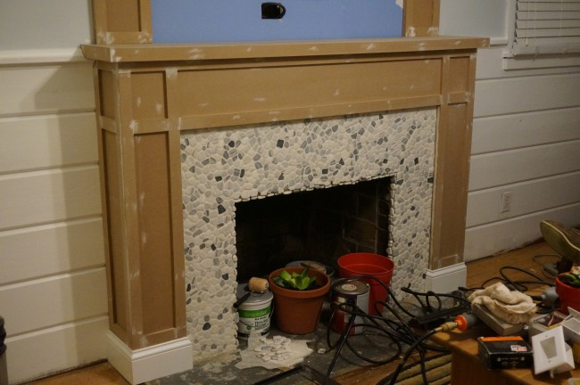 Fireplace progress