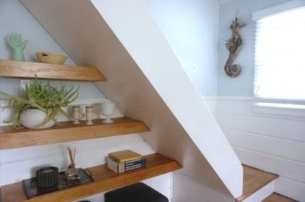 Living Room Steps and Shelves