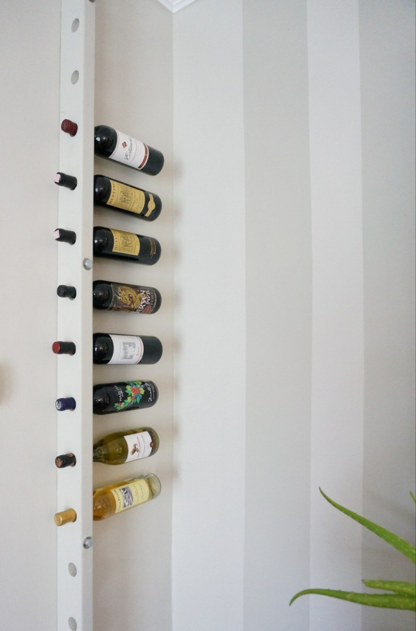 DIY Wall Mounted Wine Rack | HomeWork Design Co.