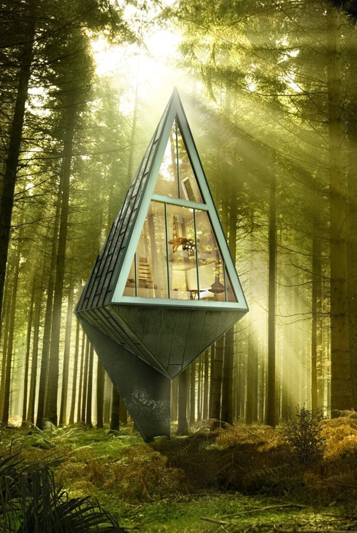 Primeval Symbiosis: residential project based on an eco ... on Modern:szae7Exnfpq= Amazing Houses  id=38010