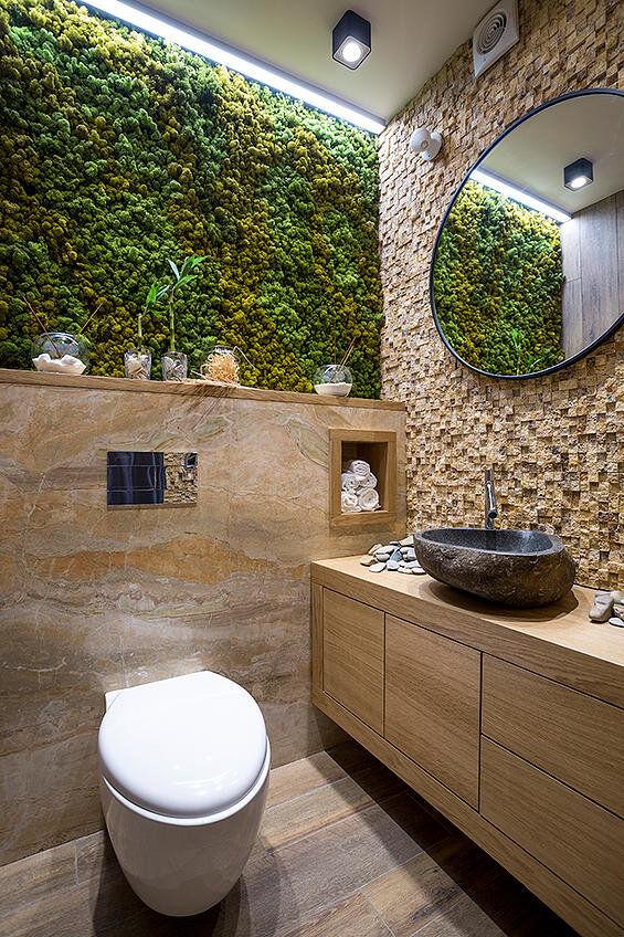 Bathroom eco-design with small vertical gardens on Contemporary:kkgewzoz5M4= Small Bathroom Ideas  id=96075