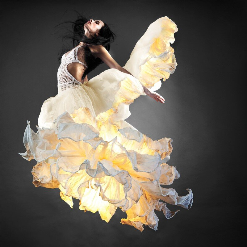 Fandango Hanging Lamp Inspired By Flamenco Dance