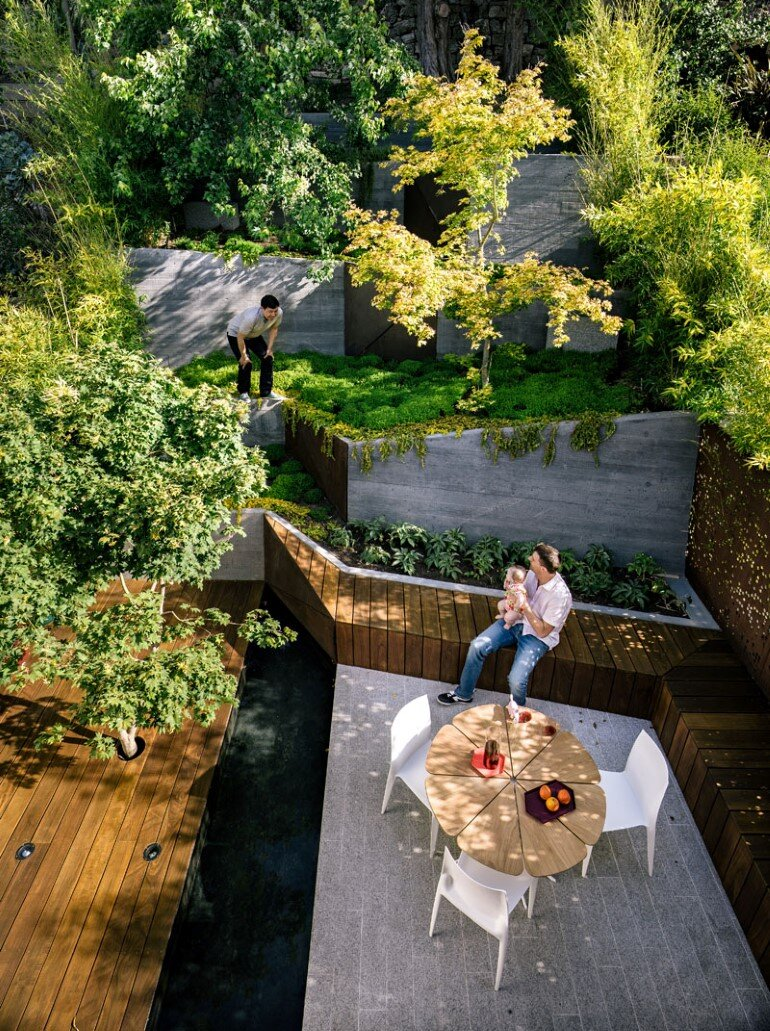 Zen Outdoor Living Space: Hilgard Garden on Garden Living Space id=73451