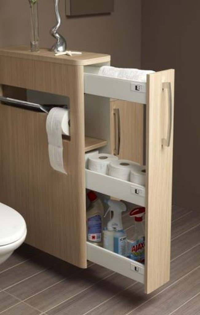 Cool hidden and pull out shelf storage ideas 13 (source pinterest.com)